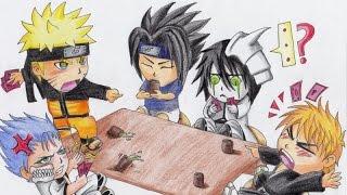 How To Draw Chibi Bleach and Naruto speedpaint - Como Dibujar Chibi Bleach y Naruto
