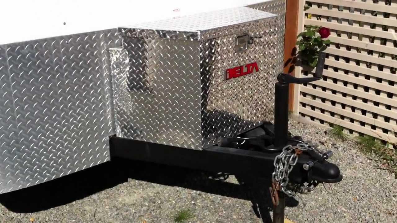 cargo trailer conversion/ budget toy hauler - YouTube