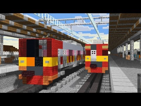 Minecraft KRL Indonesia Trains Railfanning Animation