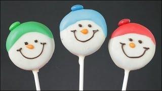 Snowman Oreo Cookie Pops!!