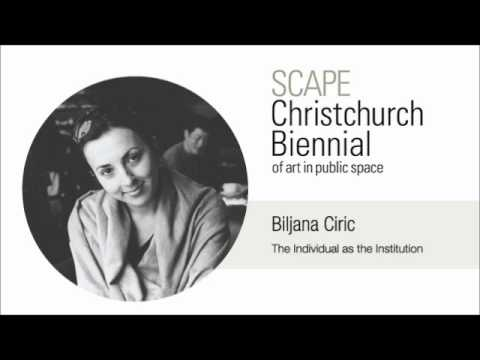 SCAPE Biljana Ciric Keynote Speech - The Individual as the Institution