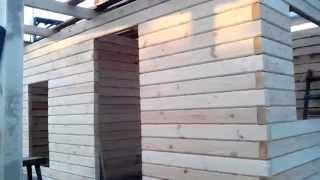 Дачный  домик из бруса(Строительство домов и дачных домиков в Краснодарском крае. Продажа дачных домиков с участком 3 сотки на..., 2014-06-13T20:56:24.000Z)