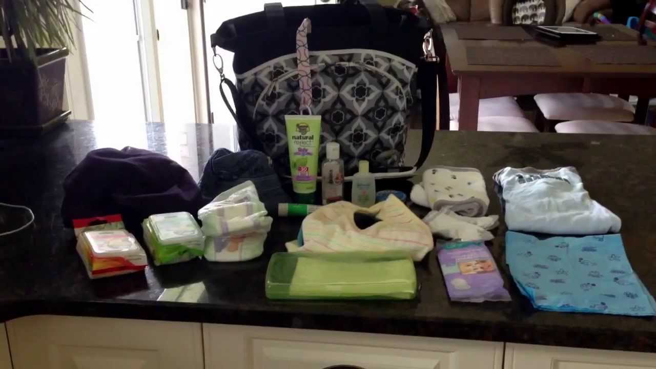 What to REALLY put inside a baby diaper bag whats in my diaper bag  YouTube