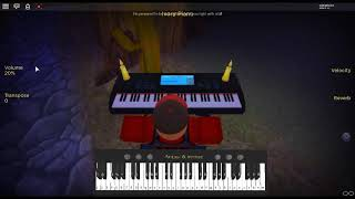 We Are The World - Live Aid by: U.S.A. For Africa on a ROBLOX piano.