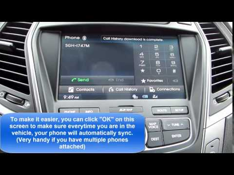How to sync your Android to the Bluetooth in '15 Hyundai Santa Fe LTD