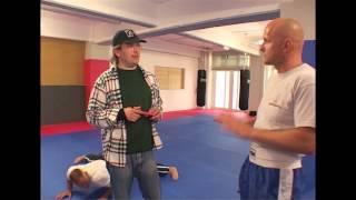 Uwe Wöllner beim Kickboxen