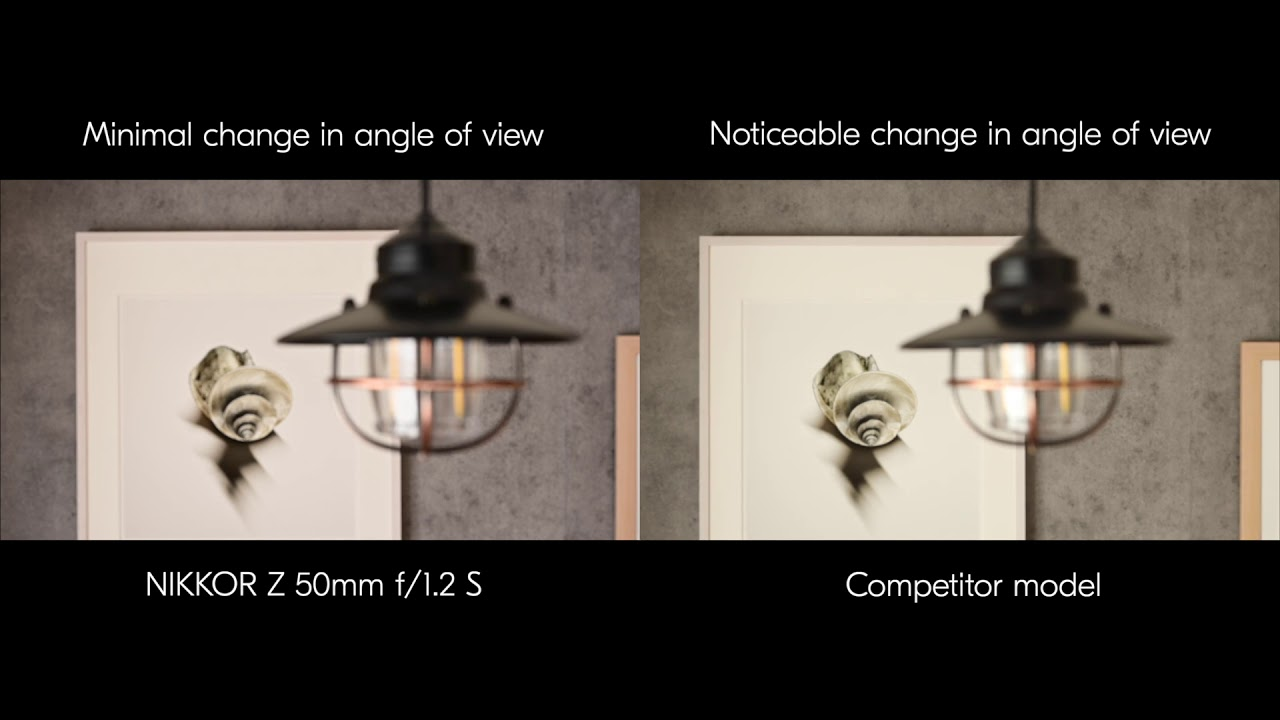 Focus breathing performance comparison: NIKKOR Z 50mm f/1.2 S