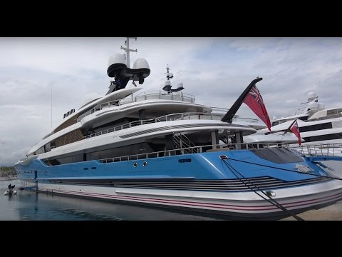 [4k] Superyachts in Antibes, YCA Southern France April 2017