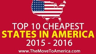 TOP TEN CHEAPEST STATES IN AMERICA 2015 2016