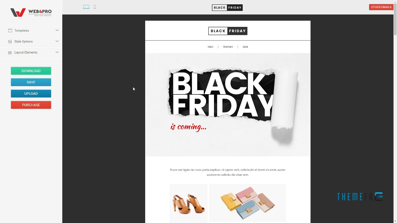 Blackfriday Email Template Online Builder 21 Nathaniel Mica Youtube