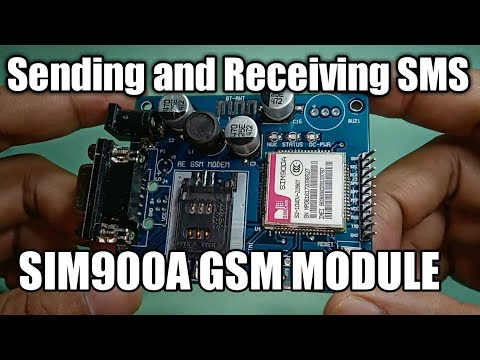 SIM900A GSM Module and Arduino: Sending and Receiving SMS