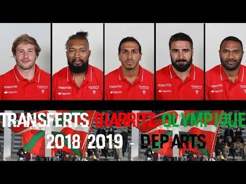 Transferts Biarritz Olympique 2018/2019 - Départs
