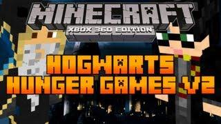 minecraft xbox 360 the hunger games map hogwarts v2 hg remake download in description