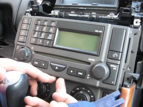 How to Remove Radio  CD Changer from Range Rover 2006 for