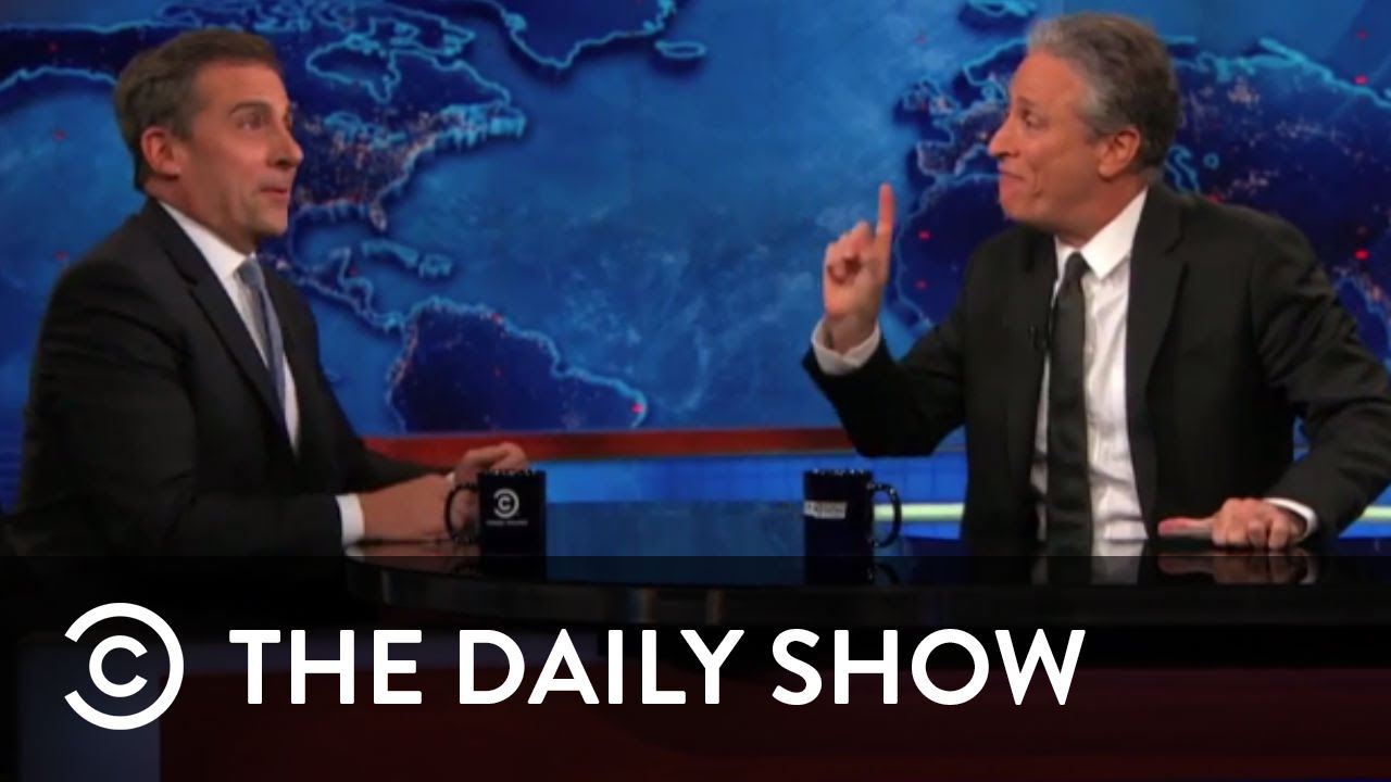 Steve Carell Talks Acting The Daily Show With Jon Stewart Youtube