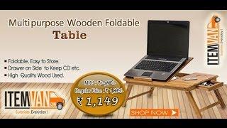 Multipurpose Wooden Laptop Table From Www.itemvan.com
