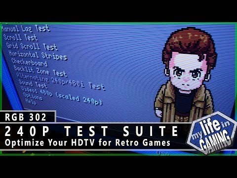 RGB302 :: The 240p Test Suite - MY LIFE IN GAMING