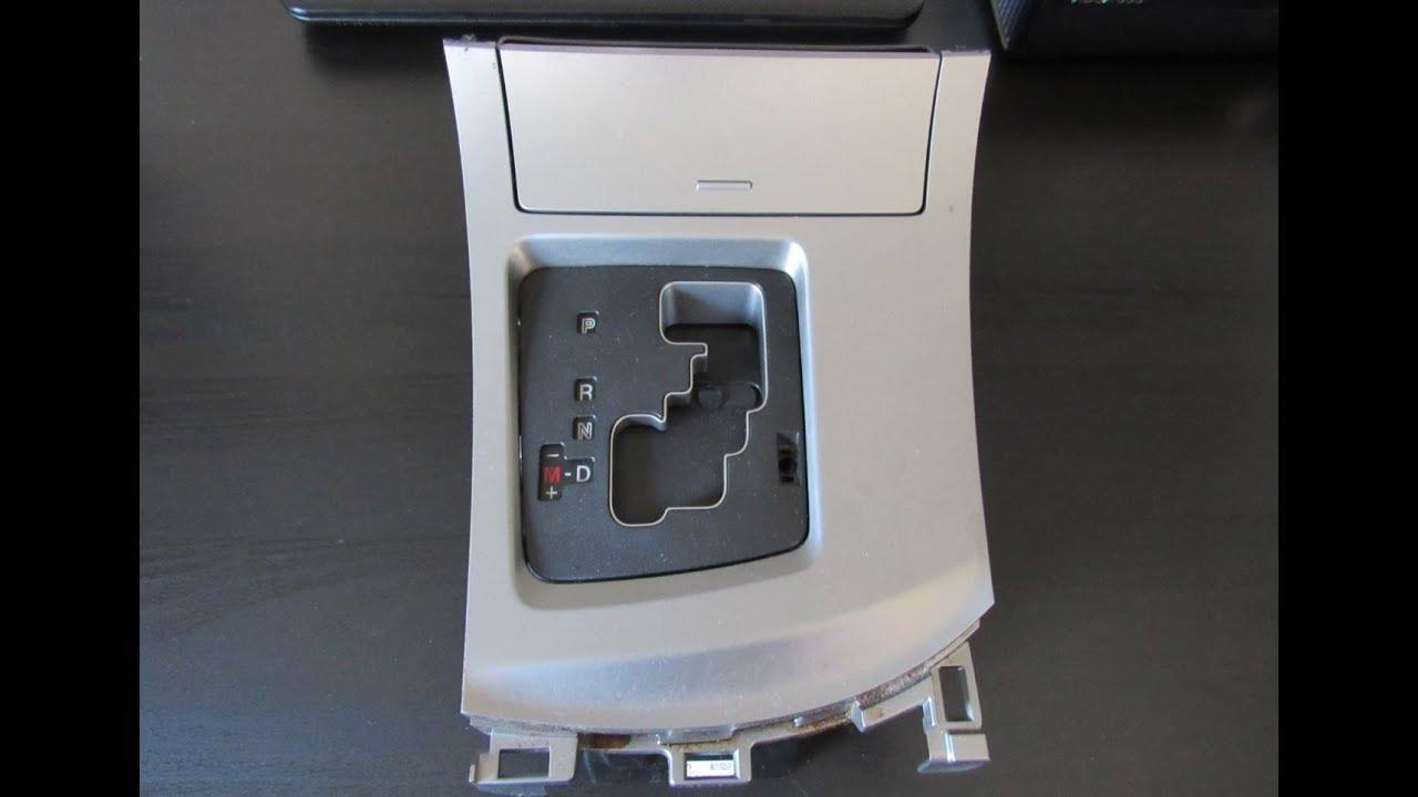 Mazda 3 Service Manual: Shift Panel RemovalInstallation