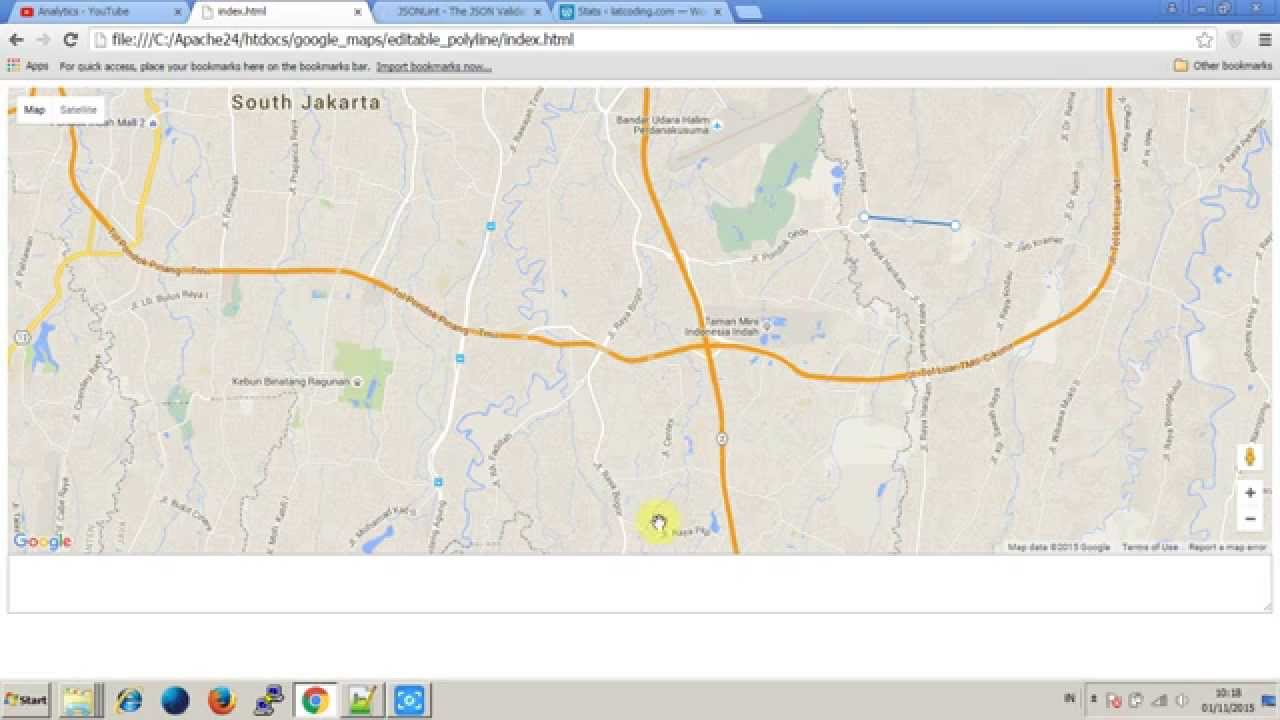 Google map v3 editable polyline and convert polyline to json youtube publicscrutiny Image collections