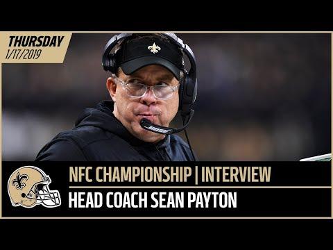 Sean Payton Previews NFC Championship vs Rams, Wants Early Superdome Noise | New Orleans Saints