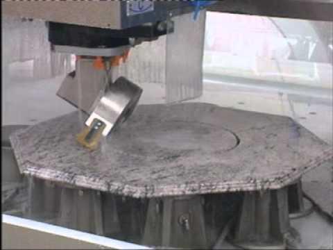 qualey granite cnc machine video 2 youtube. Black Bedroom Furniture Sets. Home Design Ideas