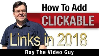 How To Add A Clickable Link in Your Videos - 2018 - YouTube Tricks and Tips