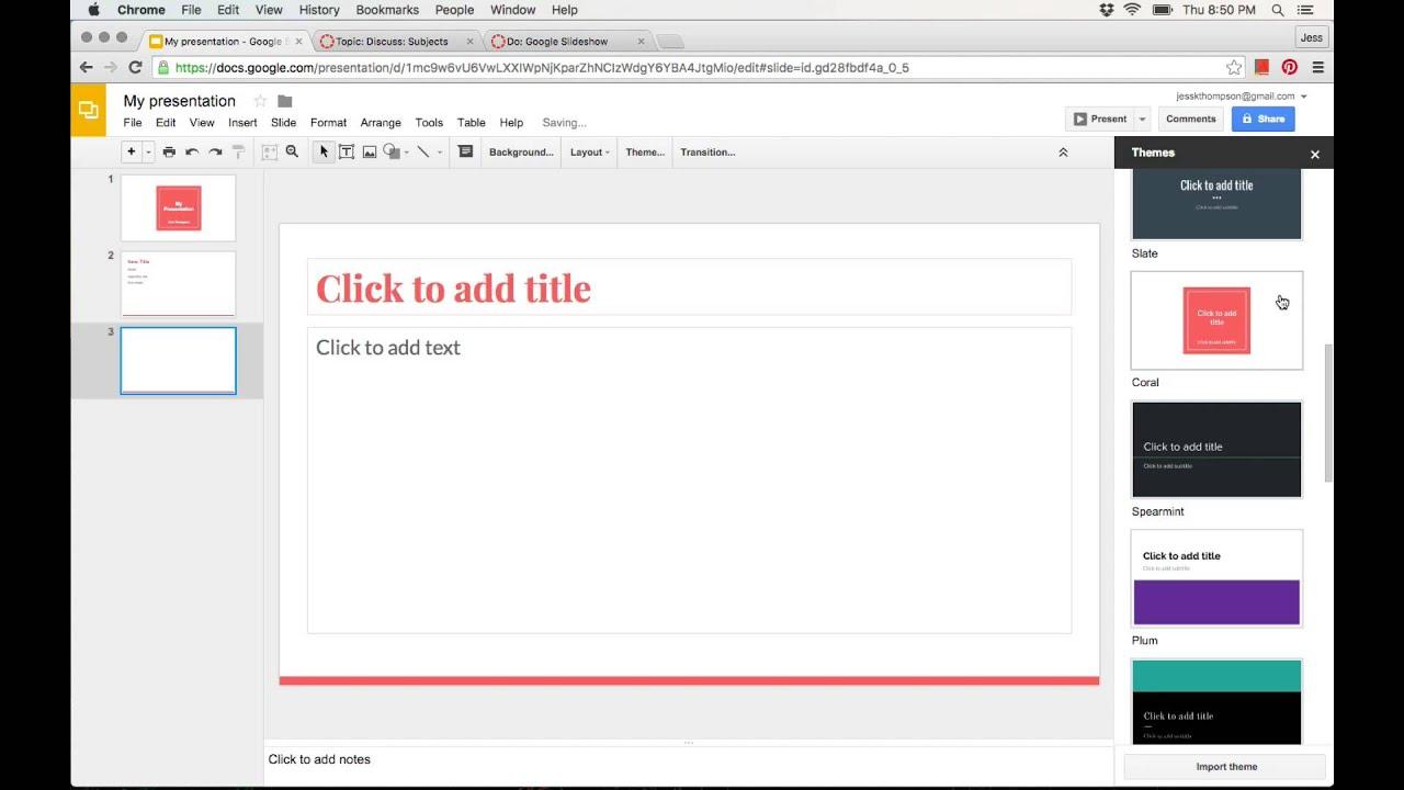 how to use google slides youtube