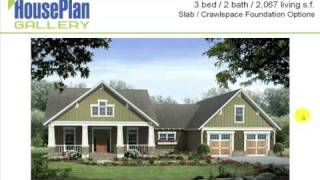 Pictures Of Craftsman House Plans - Hpg-2067-1 Video Walkthrough