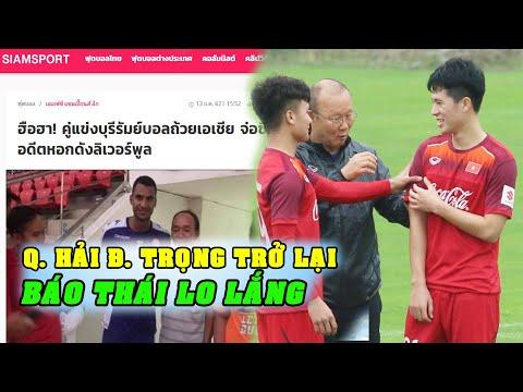 Tin bóng đá VN 16/12: Báo Thái đau đầu với CLB V-League, Q.Hải và Đ.Trọng báo tin vui
