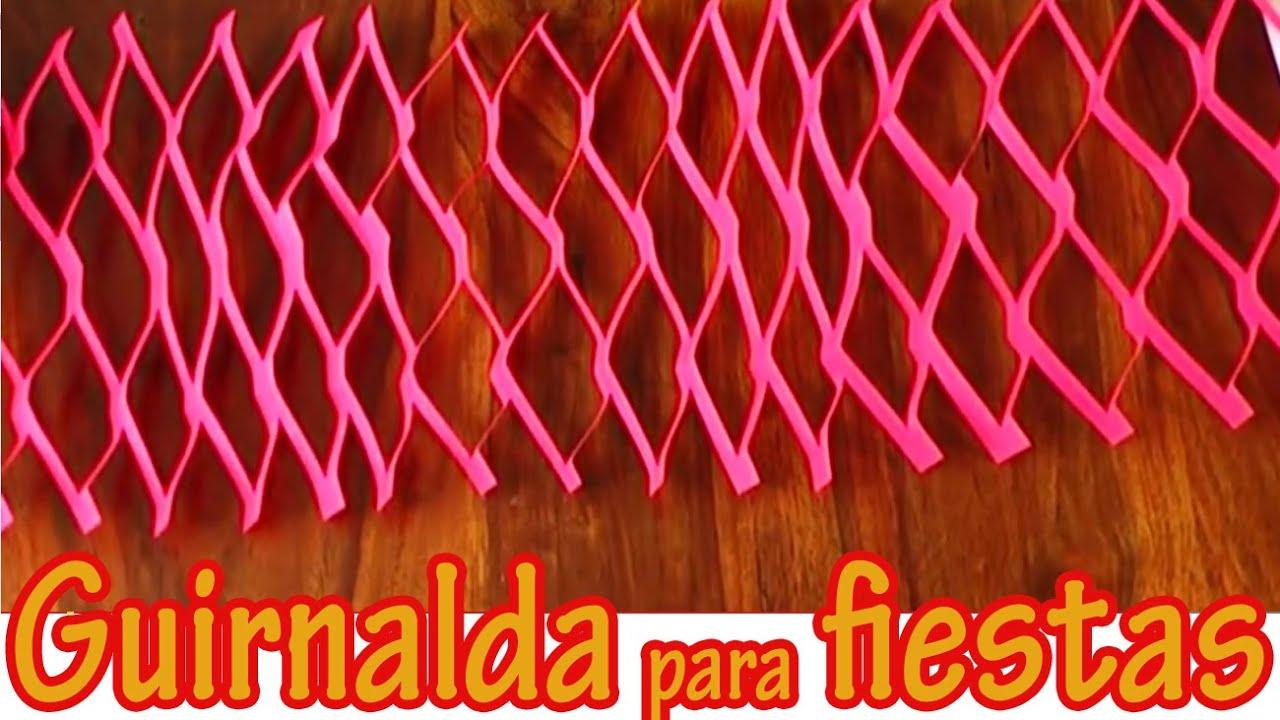 Adorno colgante para fiestas 4 guirnalda manualidades for Guirnaldas para fiestas infantiles