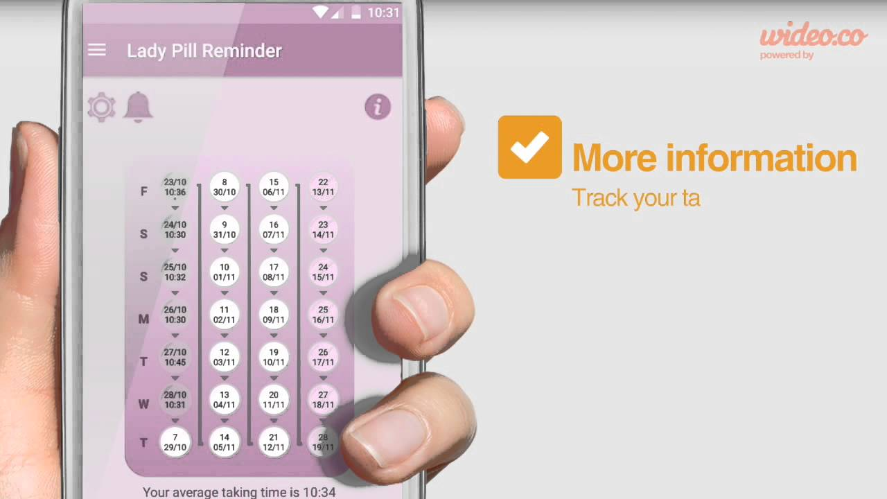 Lady Pill Reminder Keep Track Your Birth Control Pills Simple And