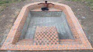 Build Swimming Pool Underground Using Brick Part 1