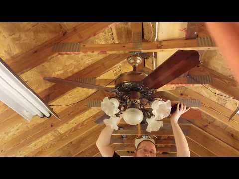 """Casablanca """"Victorian"""" Ceiling Fan with K63 motor, plus resonant frequency discussion"""
