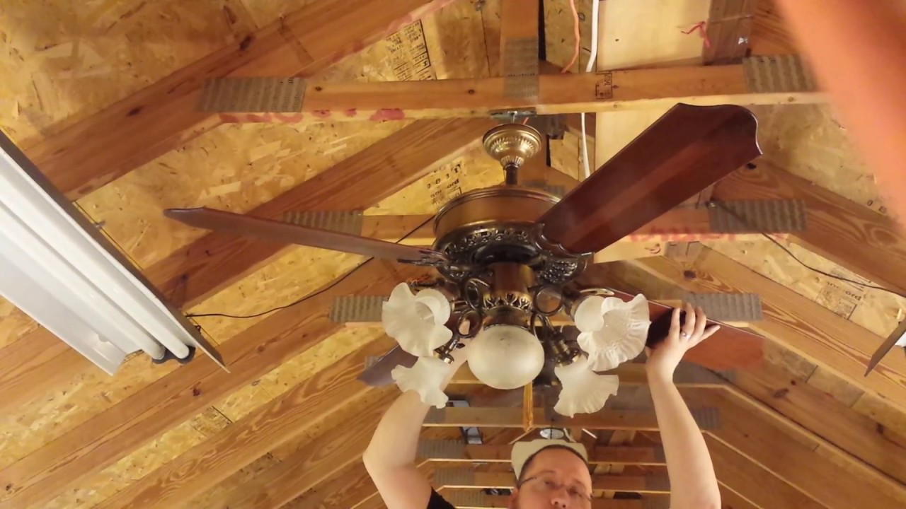 Casablanca Victorian Ceiling Fan With K63 Motor Plus Resonant Frequency Discussion