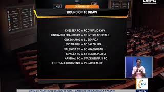 Obululu bwa UEFA Champions League obwoluzannya lwa ttiimu 16 bukwatiddwa