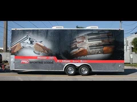 Custom Trailer Vinyl vehicle Wrap & Graphics Davie Florida | Gun Shop Pro Sporting Goods