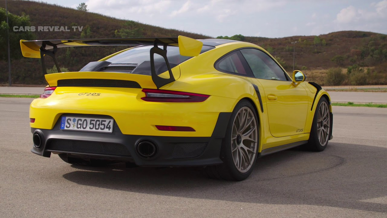 2018 porsche 911 gt2 rs racing yellow driving design interior race track driving youtube