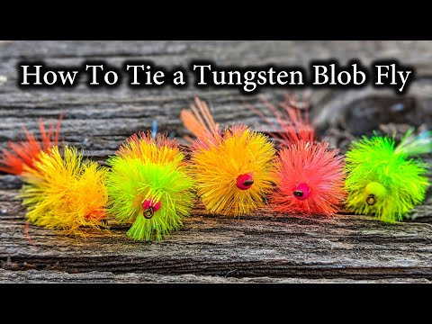 How To Tie a Tungsten Blob Fly [Great Under An Indicator]