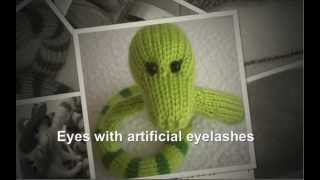 How To Knit Snake Beauty Amigurumi (littleowlshut Knitting Pattern)