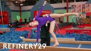 Lucie Fink Trains Like A Professional Gymnast | Lucie For Hire | Refinery29