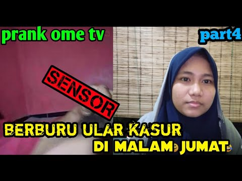 BARU MAIN UDAH NAMPAK ULAR KASUR,PRANK OME TV || Part4,prankindonesia