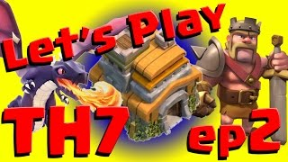 Clash of Clans: Let's Play TH7 - Anti 3 Star Farming Base ep2
