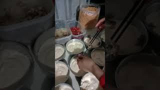 Làm bánh bông lan mặn nhân thịt