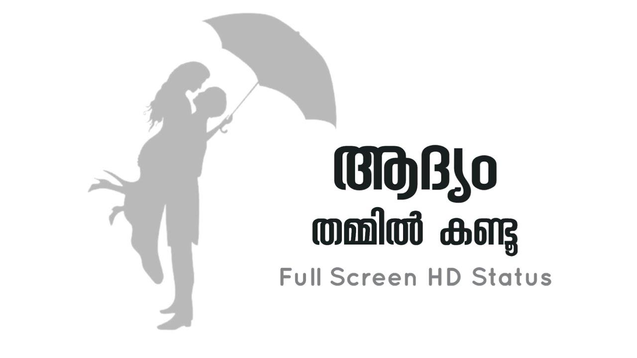 ആദ്യം തമ്മിൽ കണ്ടൂ... ♥ | Ponnil Kulichu | Full| Screen Status