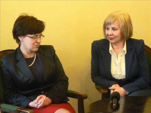 Joanna Kluzik-Rostkowska w Rudzie Śląskiej.wmv
