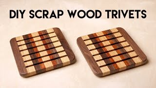 DIY Scrap Wood Trivets | Traditional Woodworking vs. CNC How-To