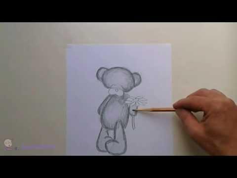 Как нарисовать Мишку Тедди  (How to draw a teddy bear)