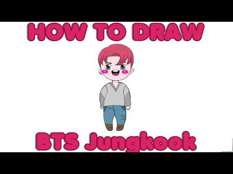 How to draw BTS Jungkook Chibi 2019