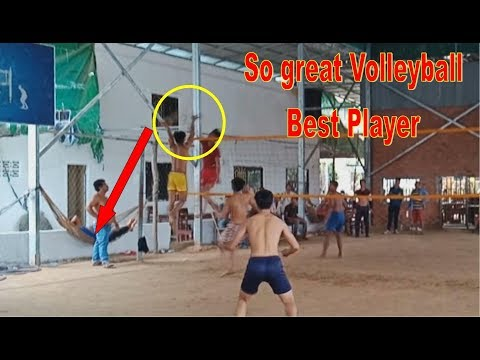 The great Volleyball best player of Cambodia | Pheng Leang Team 4 Vs 3 Toch Kompot