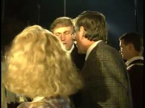 Donald Trump & Marla Maples at her school homecoming, 1991